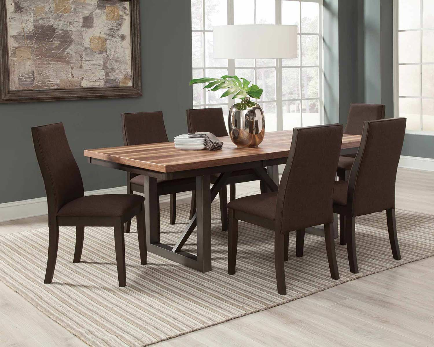 Coaster Spring Creek Dining Set - Natural Walnut