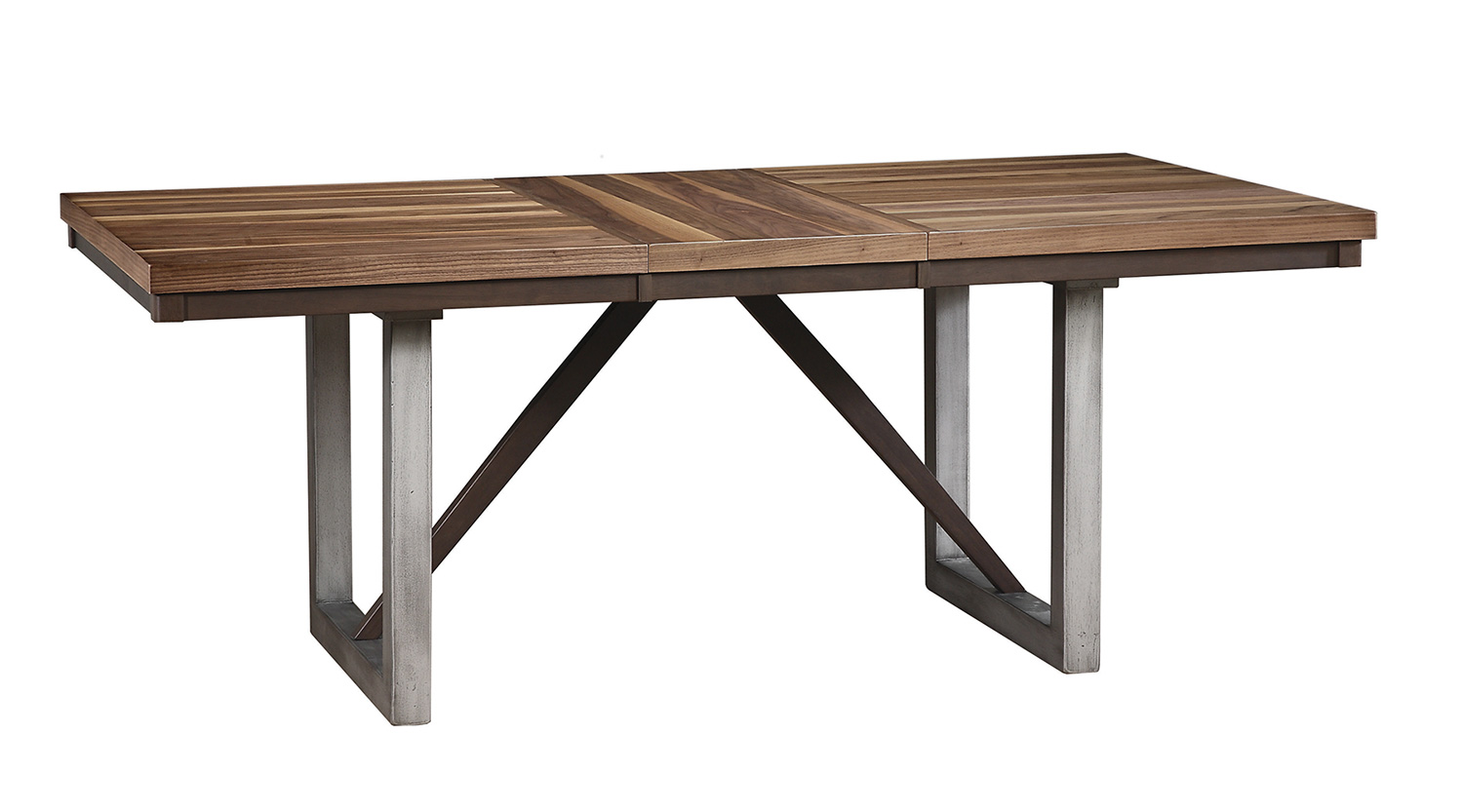 Coaster Spring Creek Rectangular Dining Table with Leaf - Natural Walnut