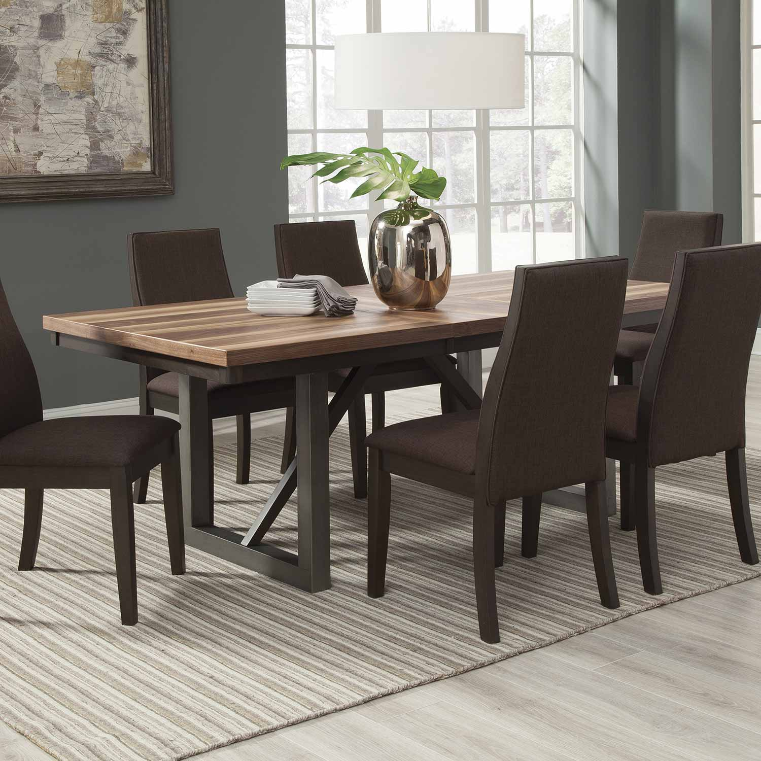 Coaster Lexton 101561 Rectangular Dining Table With 18: Coaster Spring Creek Rectangular Dining Table With Leaf