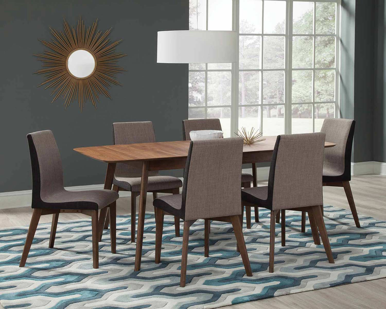 Coaster Redbridge Dining Set - Natural Walnut