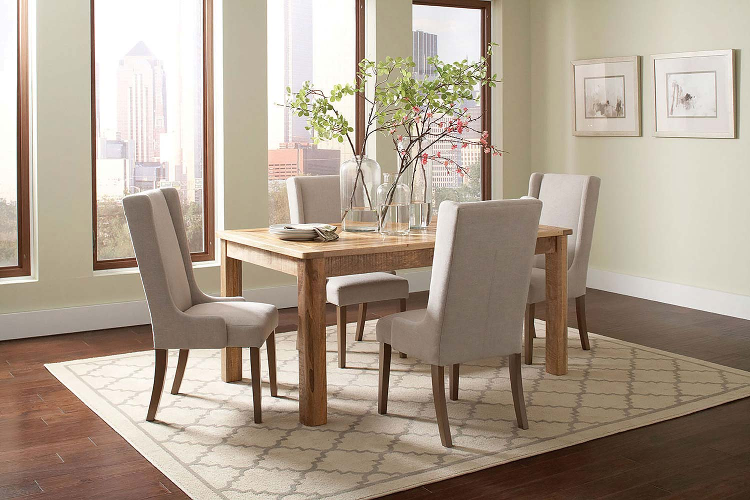 Coaster Solomon Rectangular Dining Set - Natural Mango