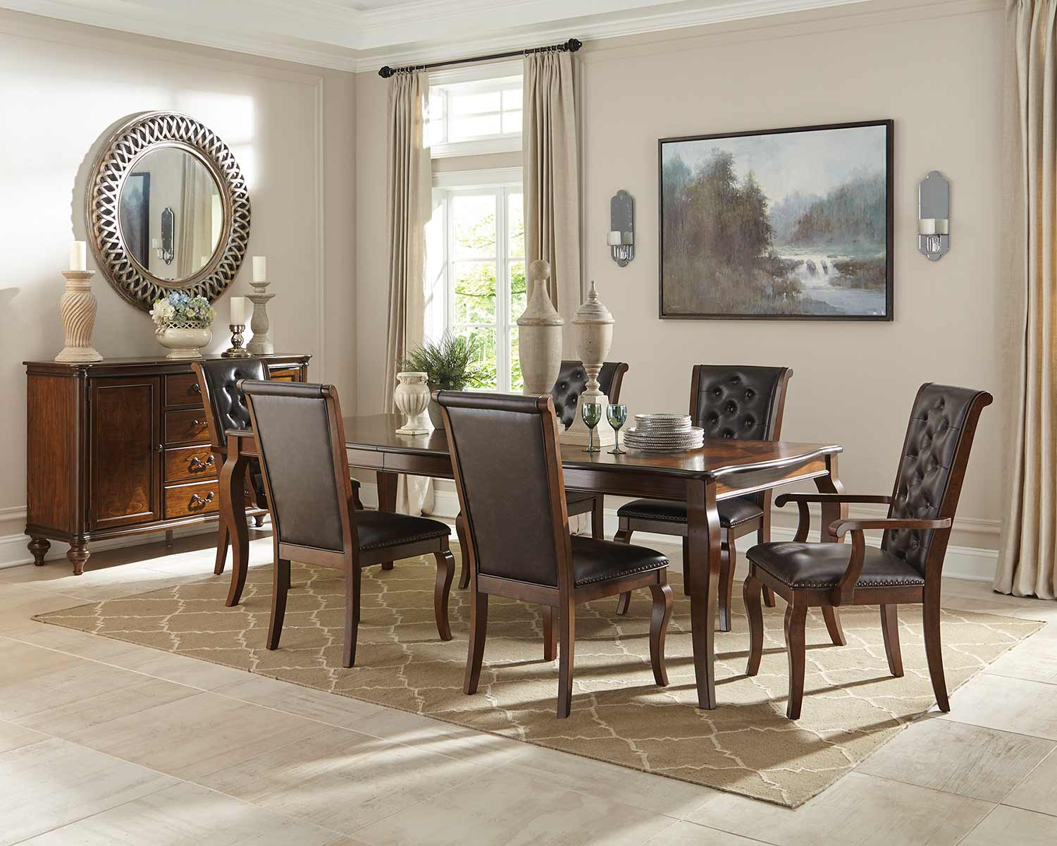 Coaster Williamsburg Dining Set - Roasted Chestnut
