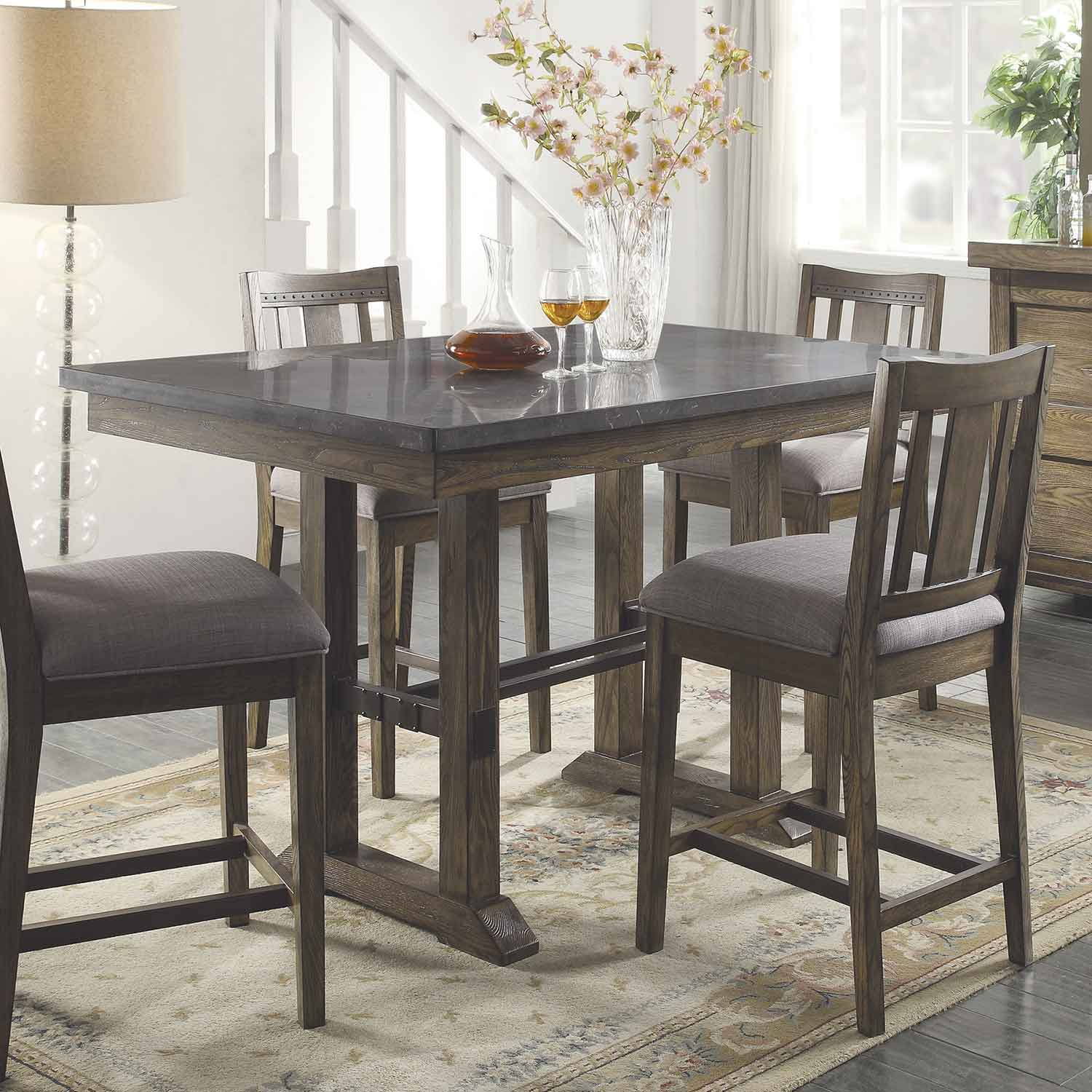 Coaster Lexton 101561 Rectangular Dining Table With 18: Coaster Willowbrook Rectangular Counter Height Table