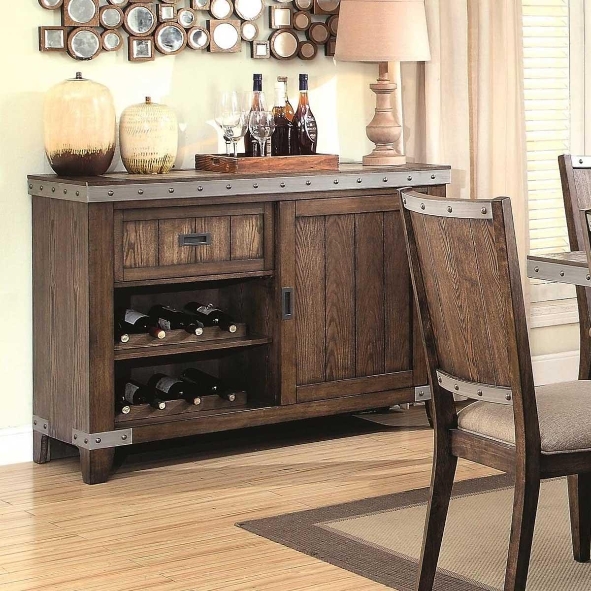 Coaster Beckett Buffet Server - Natural Mango 107015 at Homelement.com