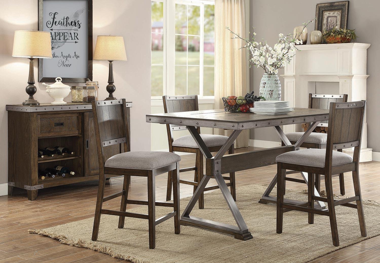 Coaster Beckett Rectangular Counter Height Dining Set