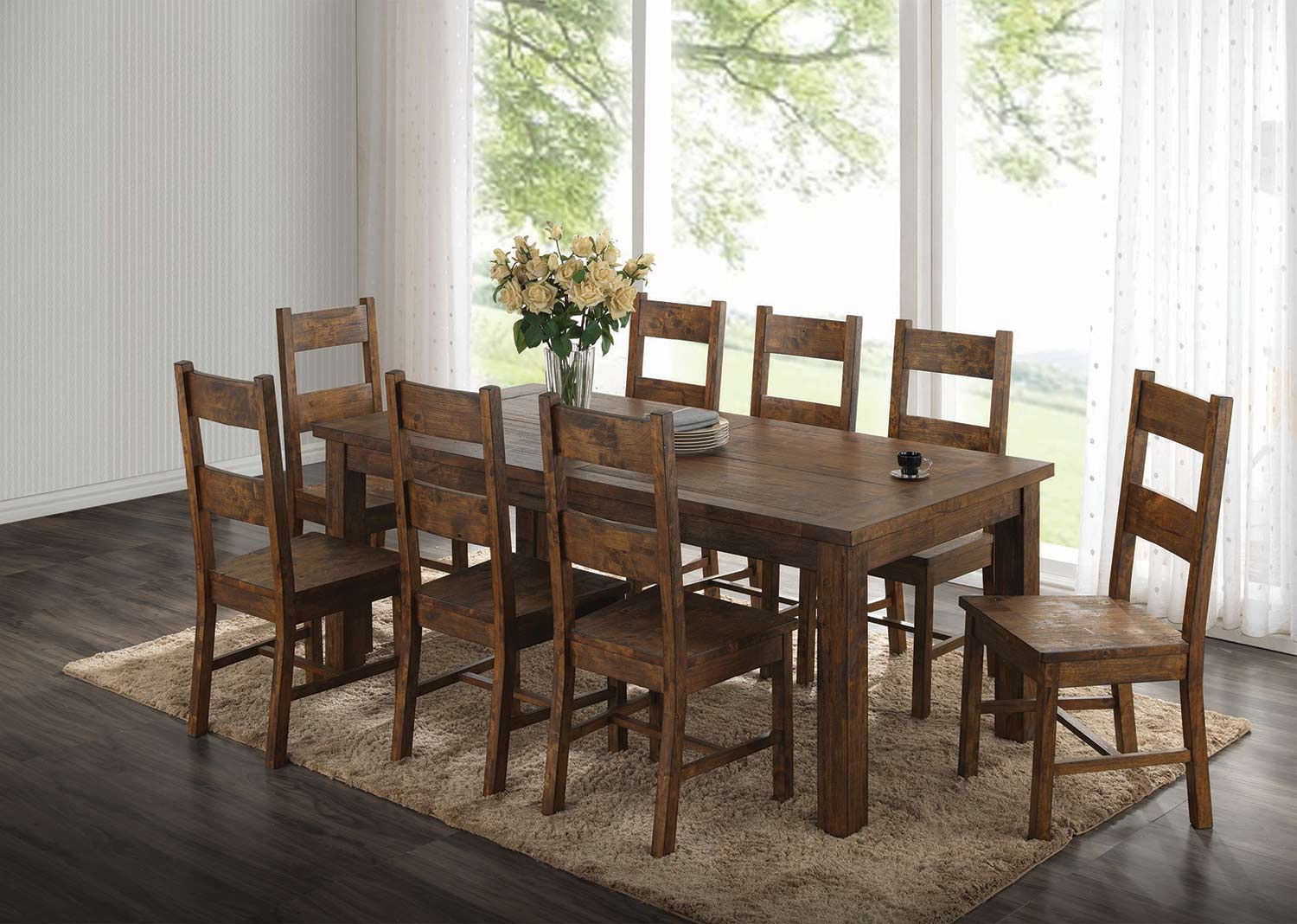 Coaster Coleman Rectangular Dining Set