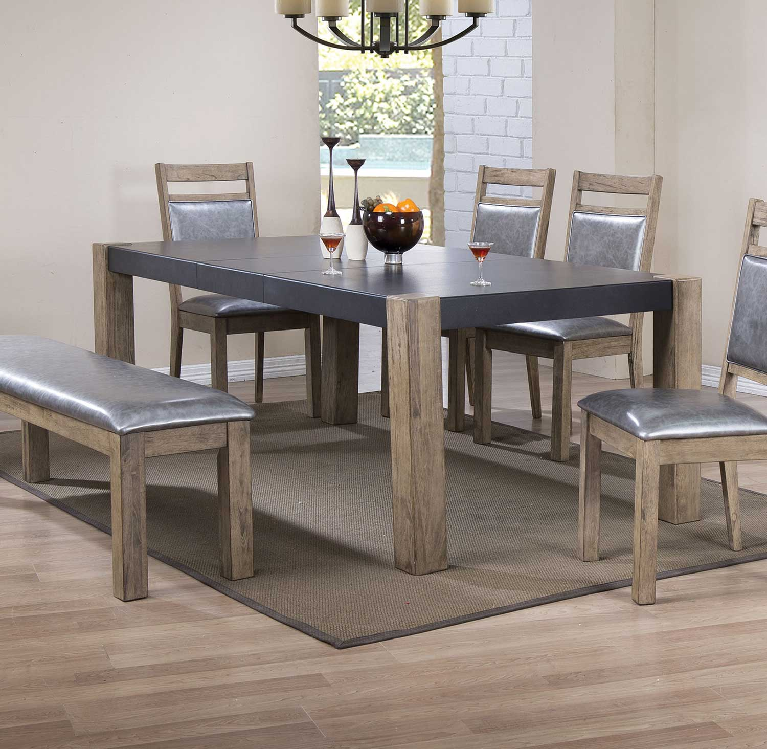 Coaster Lexton 101561 Rectangular Dining Table With 18: Coaster Ludolf Rectangular Dining Table With Leaf
