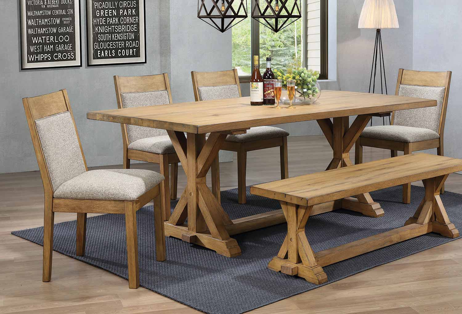 Coaster Douglas Rectangular Dining Set