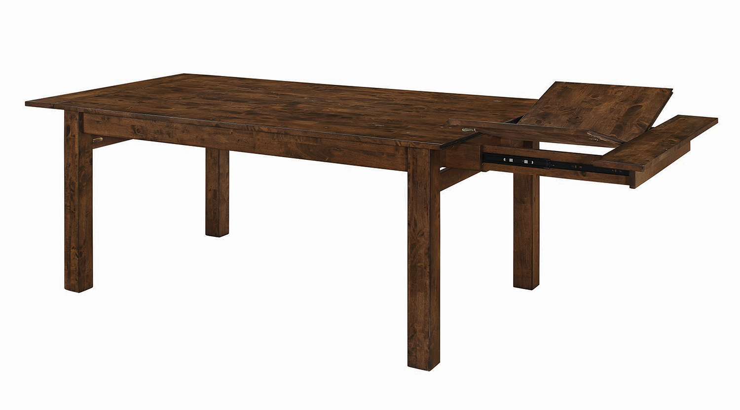 Coaster Alston Rectangular Dining Table with Leaf - Knotty Nutmeg