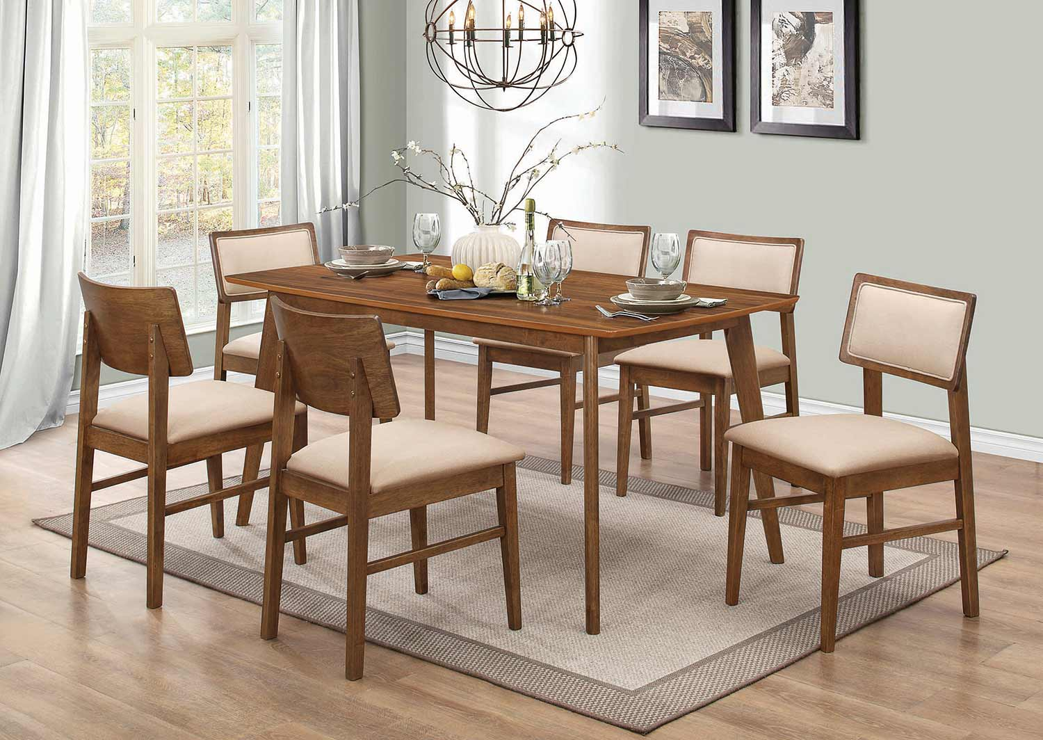 Coaster Sasha Rectangular Dining Set