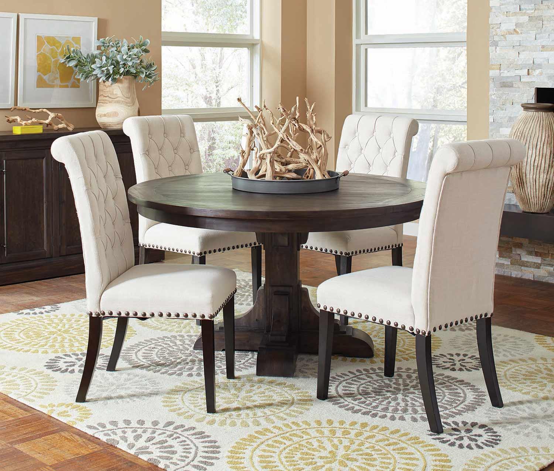 Coaster Weber Round Dining Set - Smokey Black