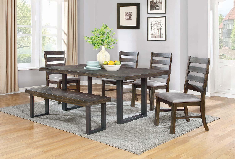 Coaster murphy rectangular dining set 107301 din set at for Coaster furniture of america