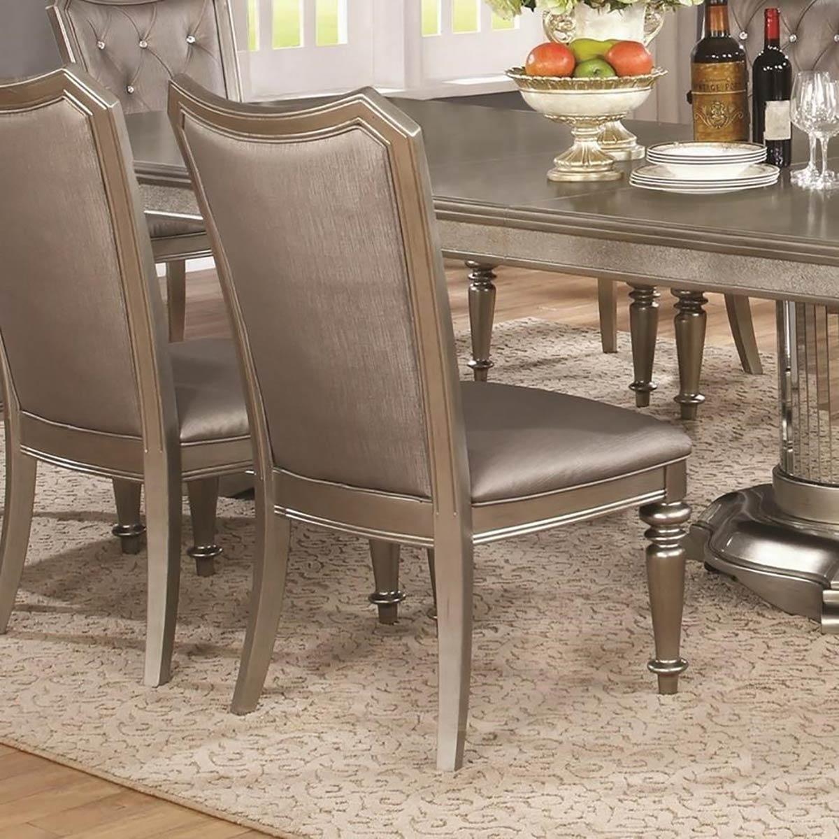 Coaster Danette Side Chair - Metallic Platinum