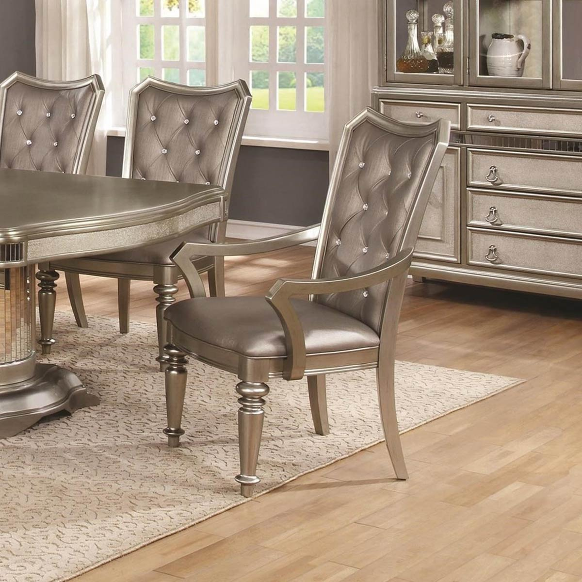 Coaster Danette Arm Chair - Metallic Platinum