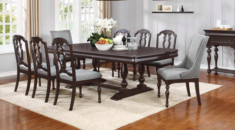 Coaster Leon Rectangular Dining Set - Black Licorice