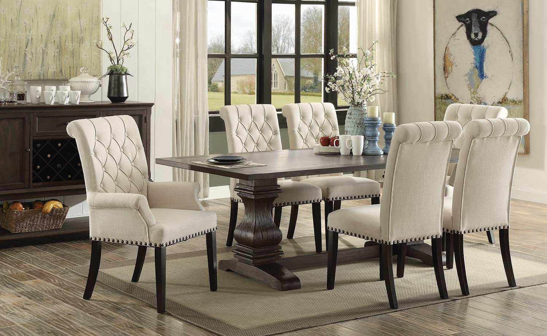 Coaster Parkins Rectangular Dining Set - Rustic Espresso Wood Finish