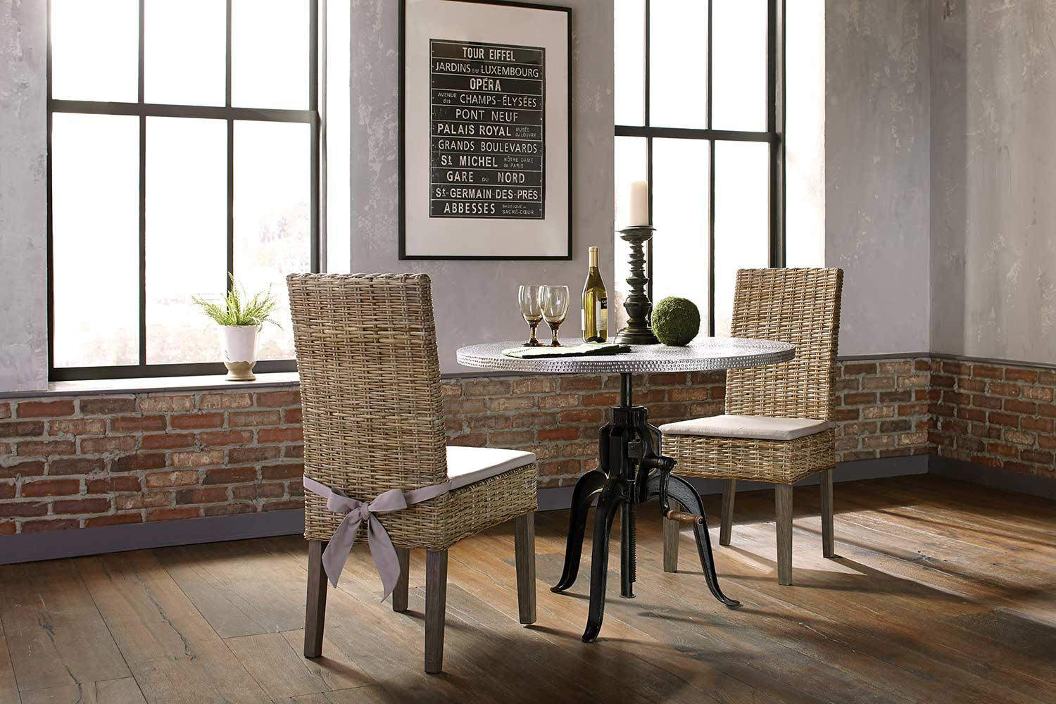 Coaster Rhea Metal Crank Dining Set - Black/Zinc