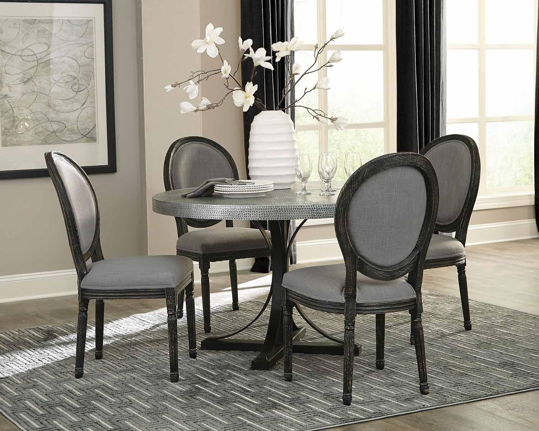 Coaster Rochelle Round Dining Set - Zinc