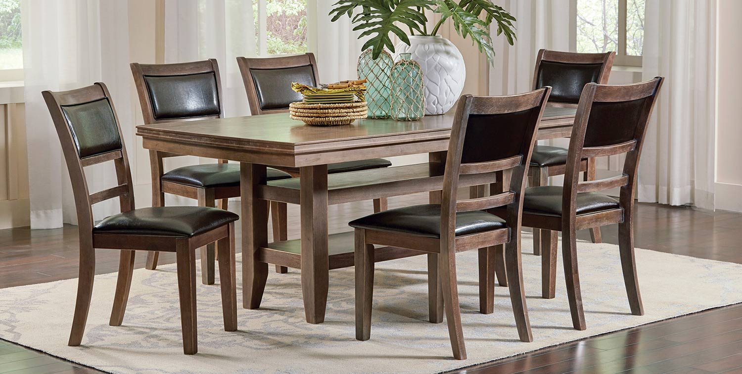 Coaster Bustamante Dining Set - Drifted Sand