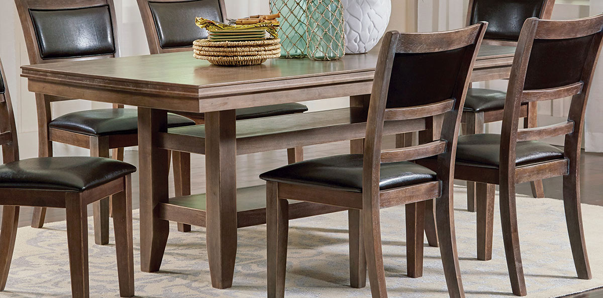 Coaster Bustamante Dining Table - Drifted Sand