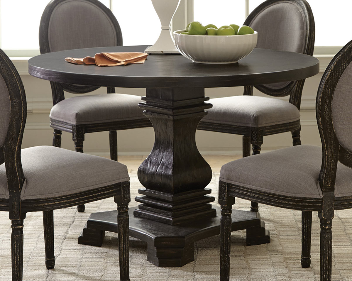 Coaster Dayton Dining Table - Antique Black/Grey
