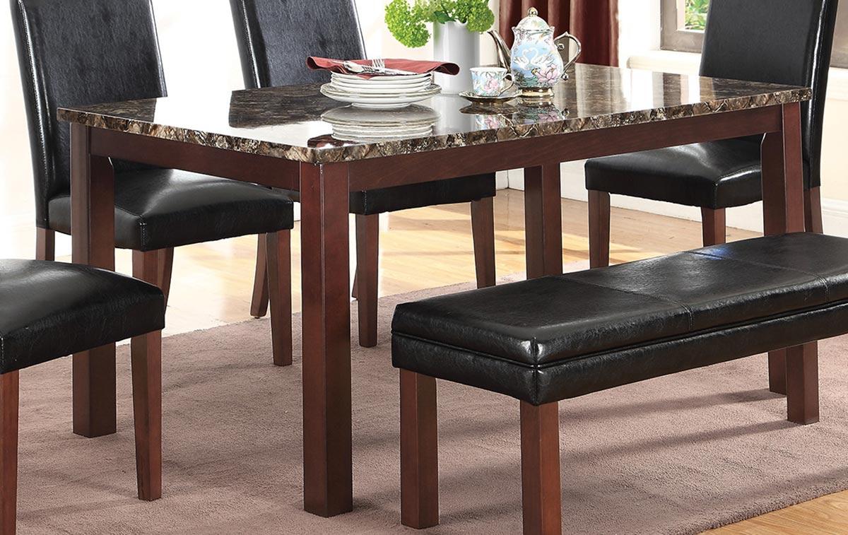Coaster Otero Dining Table - Dark Brown/Black