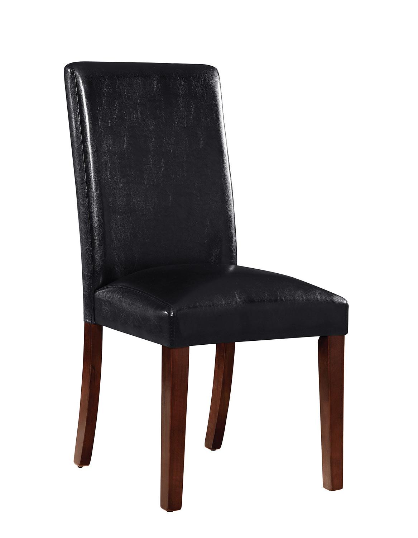 Coaster Otero Side Chair - Dark Brown/Black