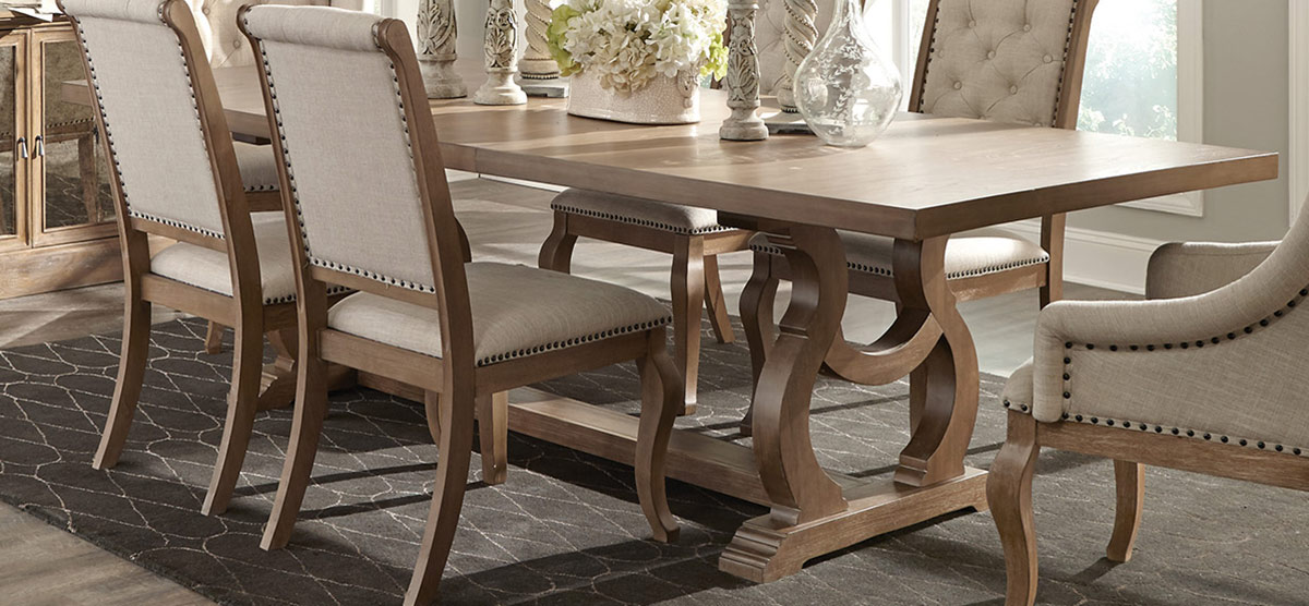 Coaster Glen Cove Dining Table   Barley Brown