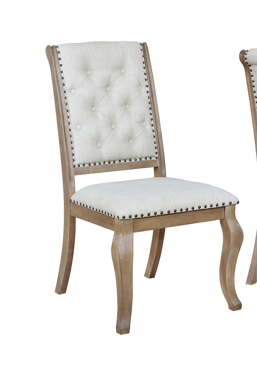 Coaster Glen Cove Side Chair - Grey Fabric/Brown