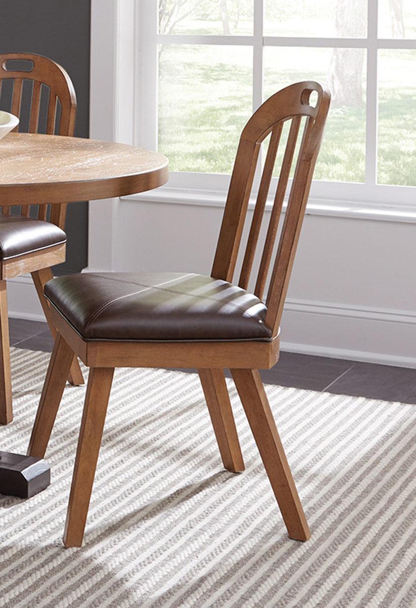 Coaster Bishop Side Chair - Drifted Pine/Dark Coffee