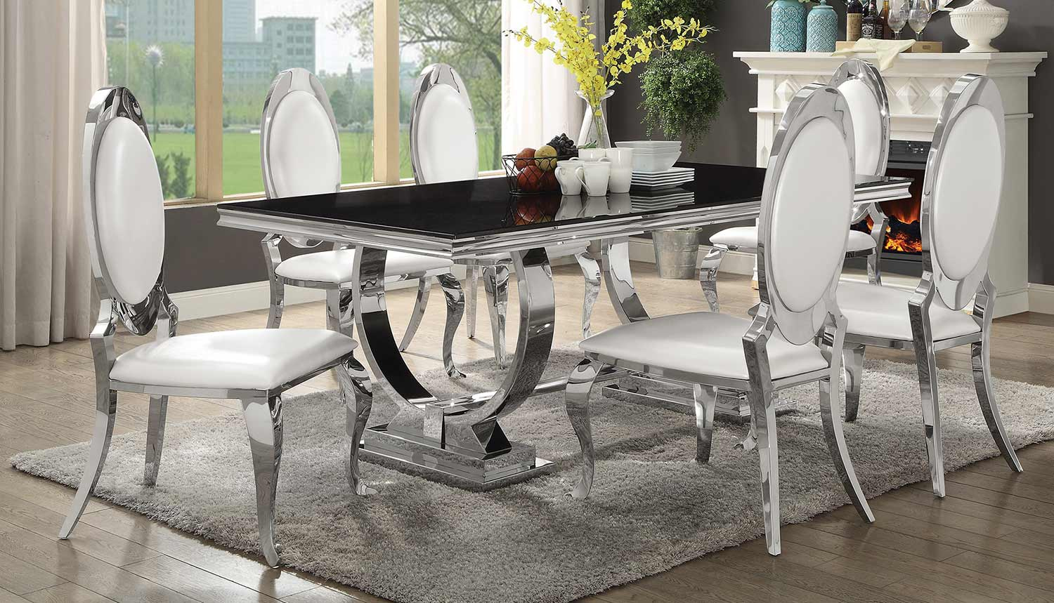 Coaster Antoine Dining Set - Chrome