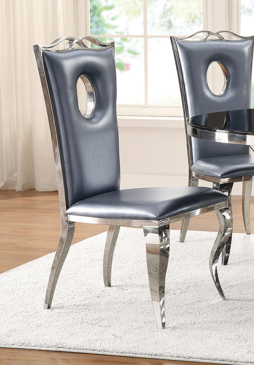 Coaster Blasio Side Chair - Metallic Grey