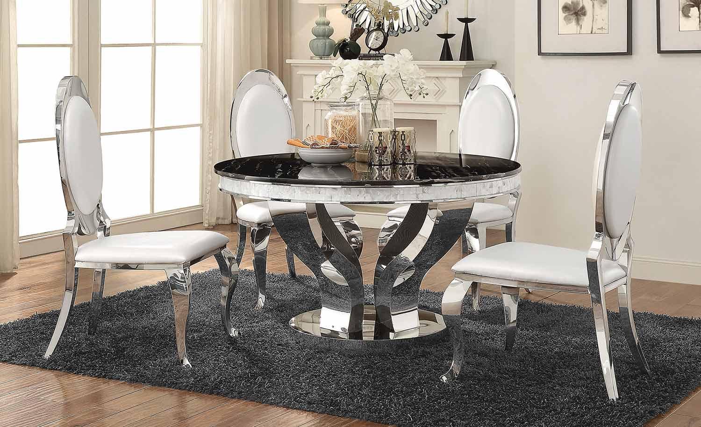 Coaster Anchorage Round Dining Set - Chrome