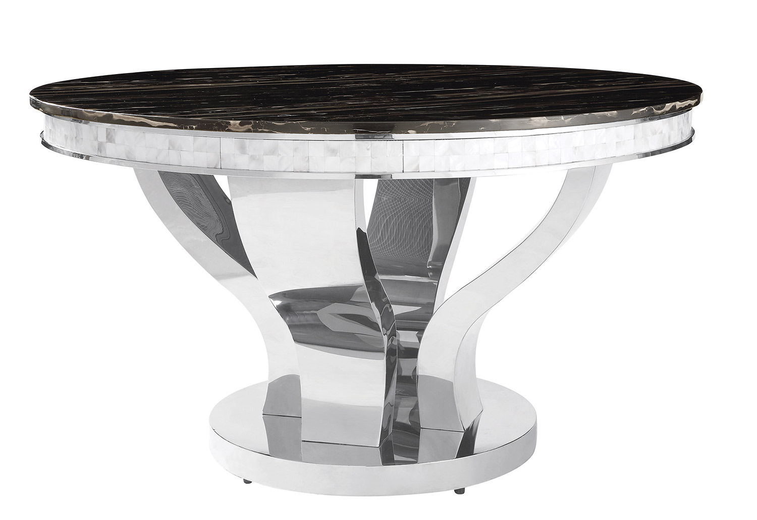 Coaster Anchorage Round Dining Table - Chrome