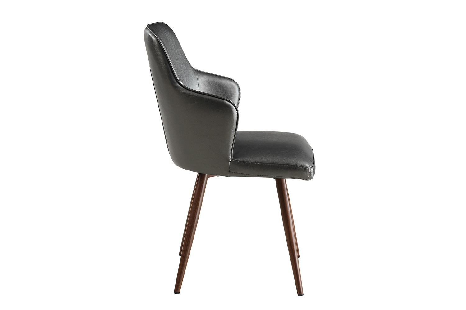 Coaster Abbott Side Chair - Walnut/Metallic Grey