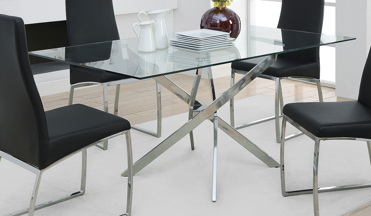 Coaster Nathan Dining Table - Chrome