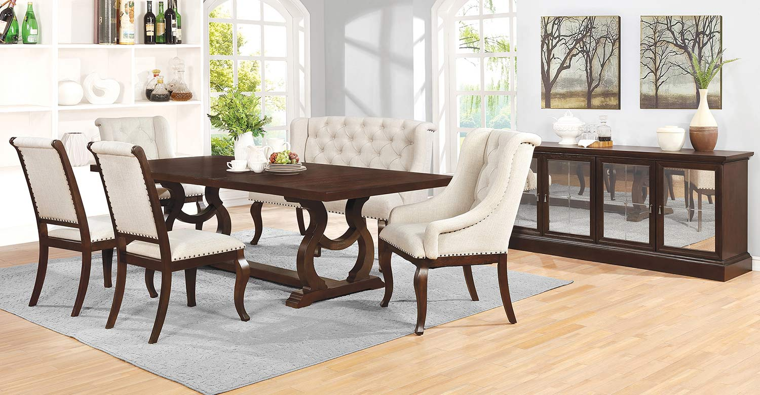 Coaster Glen Cove Dining Set - Antique Java