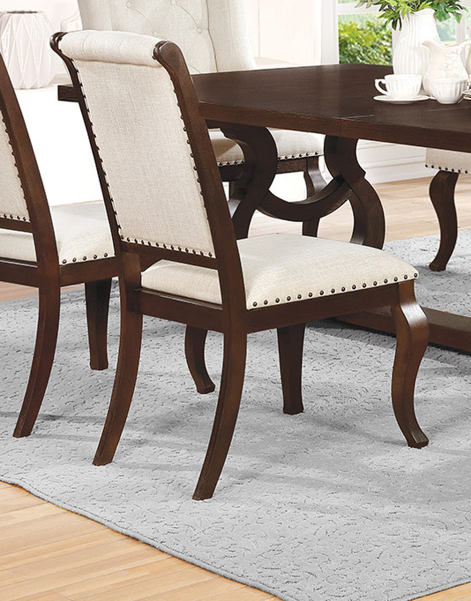 Coaster Glen Cove Side Chair - Antique Java/Cream Fabric
