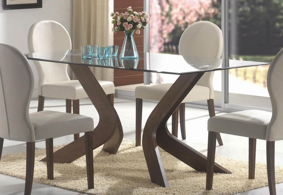 Coaster San Vicente Rectangular Glass Dining Set