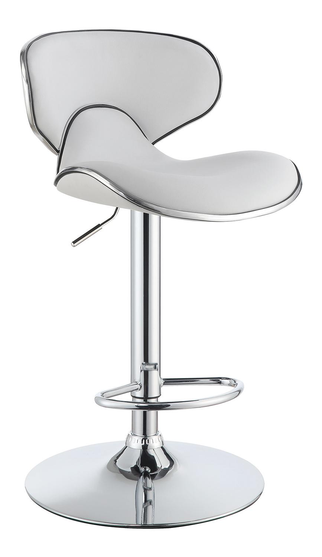 Coaster 120389 Adjustable Bar Stool - White/Chrome