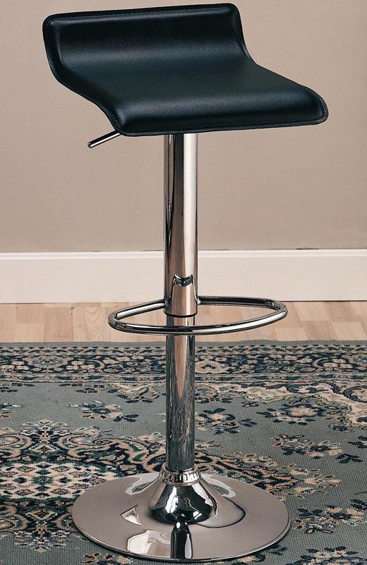 Coaster 120390 29 Inch Adjustable Height Barstool - Black