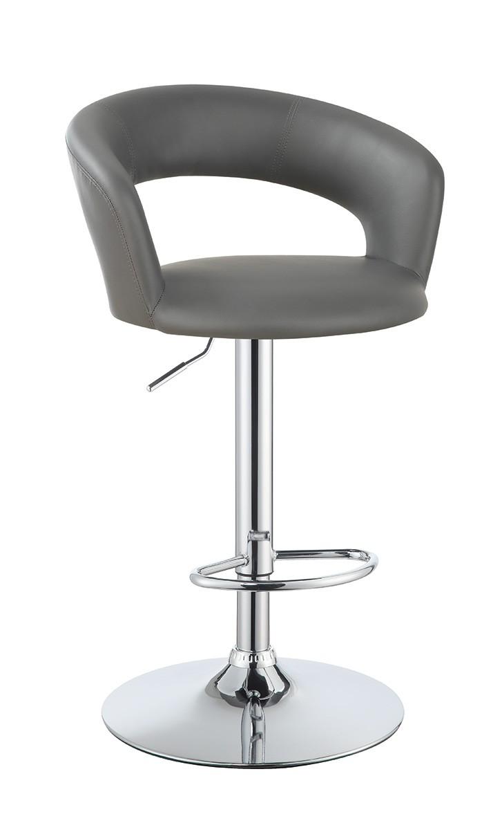 Coaster 120397 Adjustable Bar Stool - Chrome/Grey