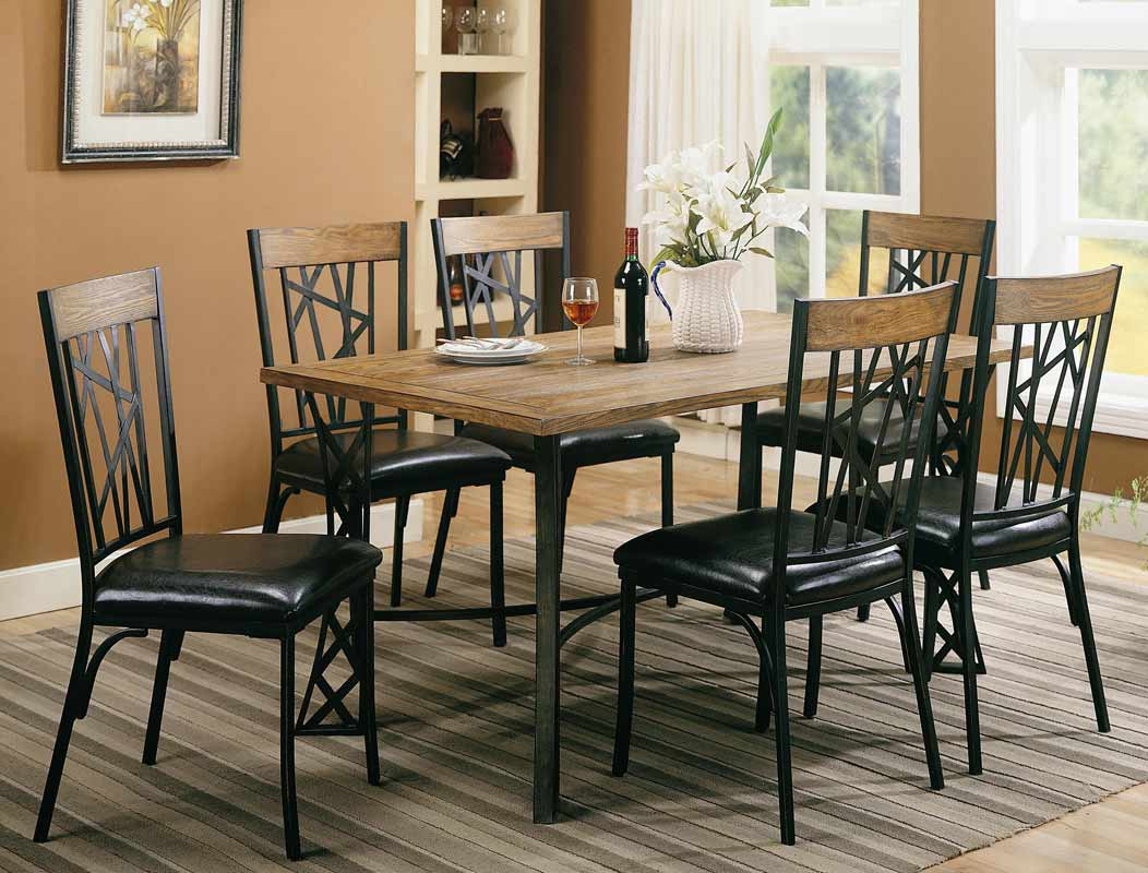 Coaster Hyperion Rectangular Dining Set