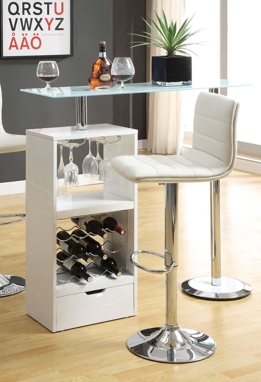 Coaster 120452 Bar Table - White