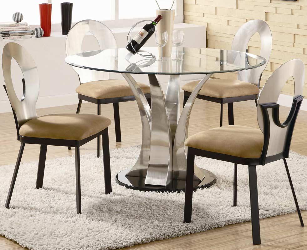 Coaster Halona Round Glass Dining Set