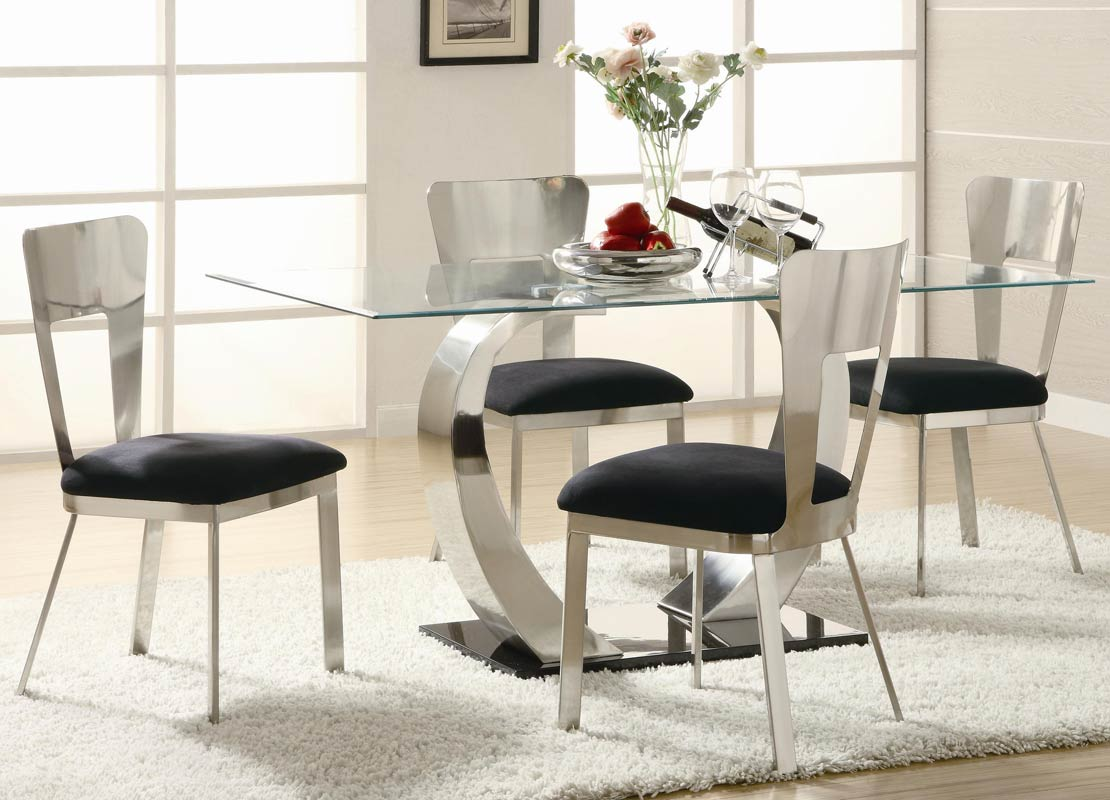 Coaster Eris Rectangular Glass Dining Set