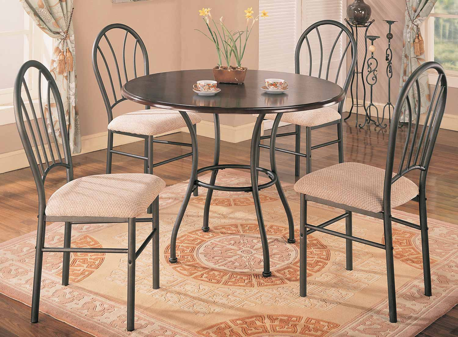 Coaster Halle 5 Piece Round Dining Set