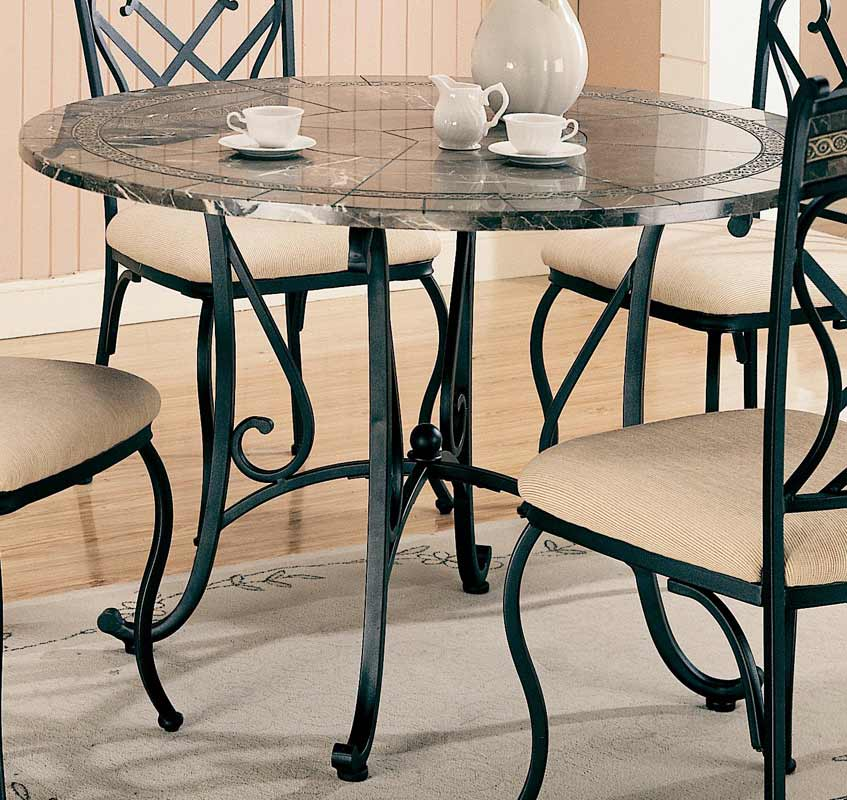Coaster Ardith Round Marble Dining Set