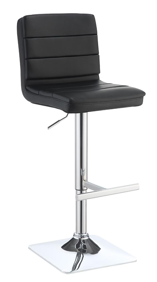 Coaster 120695 Adjustable Bar Stool - Chrome/Black
