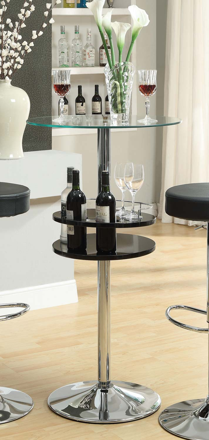 Coaster Mix & Match Black Bar Table